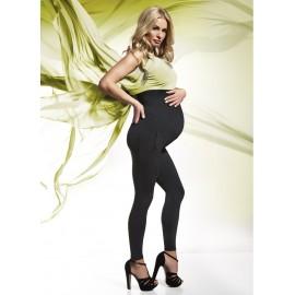 Těhotenské zateplené legíny MELANIE BAS BLEU černé