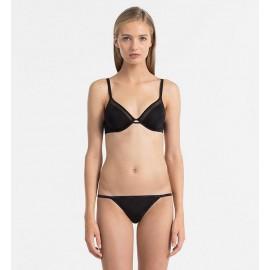 Calvin Klein Tanga Sheer Marquisette Black