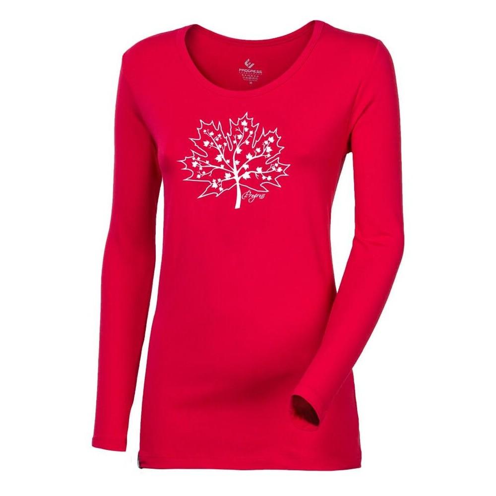 """SONJA """"MAPLE"""" dámské triko s dlouhým rukávem s bambusem růžová"""