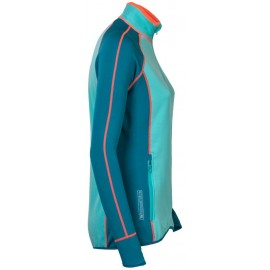 TISPA dámská funkční sportovní mikina modrozelená/mintová