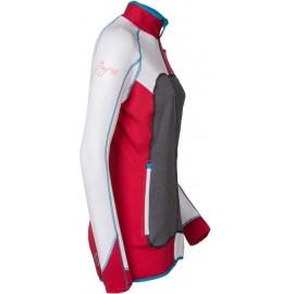 REBELIA dámská funkční sportovní mikina bílá/růžová - doprodej