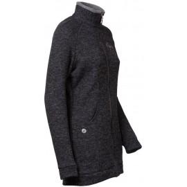 EXPANZA dámský sportovní kabátek s vlnou černý melír - doprodej