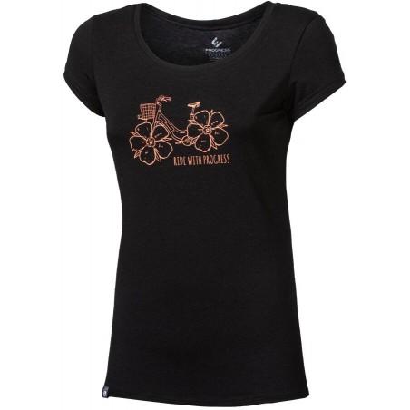 """LIBERTA """"FLOWBIKE"""" dámské triko s bambusem černá"""
