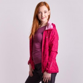 VALEDA lehká bunda - větrovka malinová
