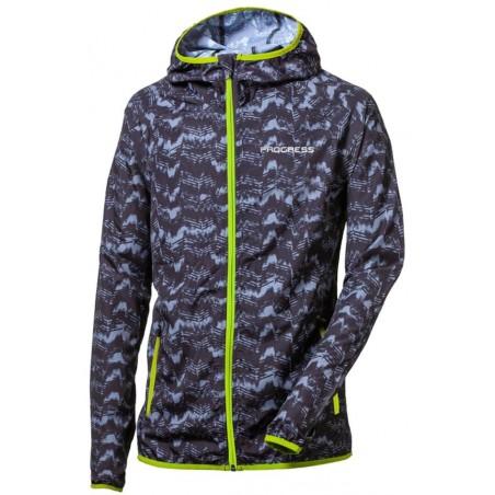 VALEDO lehká bunda - větrovka černá/šedá