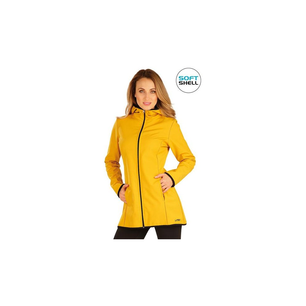 LITEX Bunda dámská softshellová s kapucí
