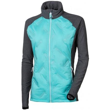 CIVETTA dámská hybridní bunda šedý melír/mintová - doprodej